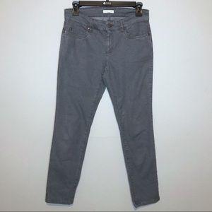 Eileen Fisher Gray Slim Cut Jeans Gray Wash